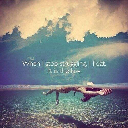 Stop struggling