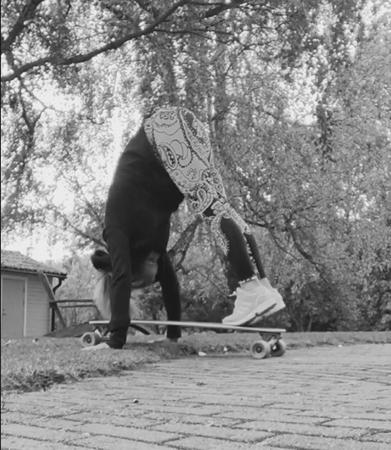 Söndags träning med skateboard