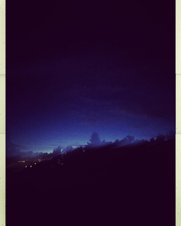 Blå höst kväll